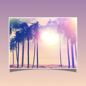 Retro style summer card
