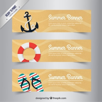 Retro summer banners