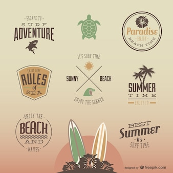 Retro summer fun bagdes