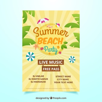 Retro summer party poster