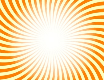 Retro sunburst in orange and yellow