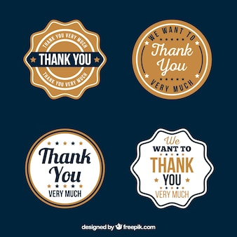 Retro thank you sticker pack
