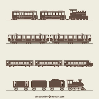 Retro trains collection