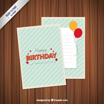 Retro typographic birthday card