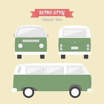 Retro van design