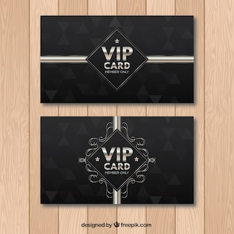 Retro vip cards with old style