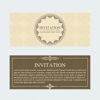 Retro wedding invitation banner template