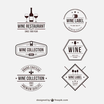 Retro wine badges