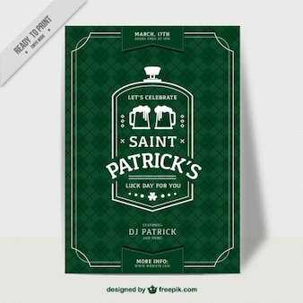 Rhombus green Saint Patrick's day flyer