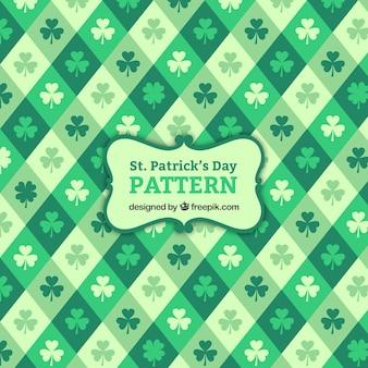 Rhombus ST. Patrick's day pattern