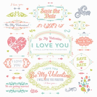 Ribbon clipart decoration love drawn