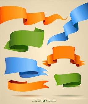 Ribbons vector graphics