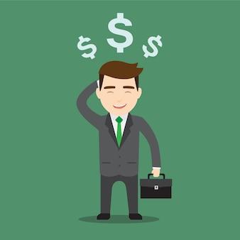 Rich businessman character