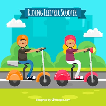 Riding electric scooter concept