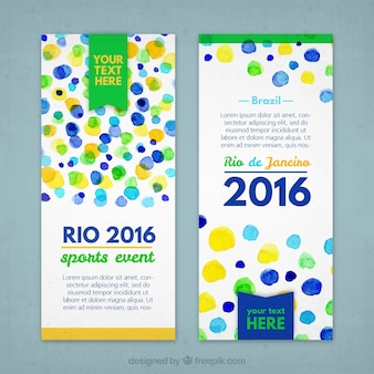 Rio 2016 banners with dots