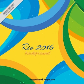 Rio de janeiro background with abstract shapes