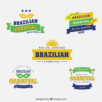 Rio de Janeiro brazilian carnival badges