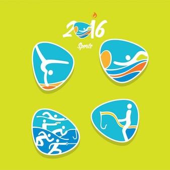 Rio olympics icons