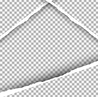 Ripped paper background in triangle form