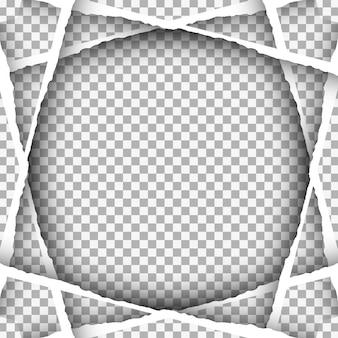 Ripped retangular paper background