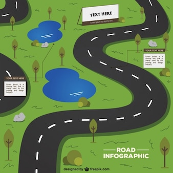 Road infographic template