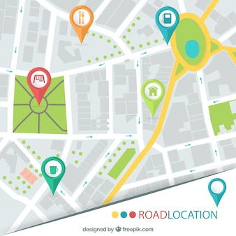Road location map