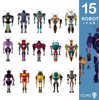 Robot icons collection