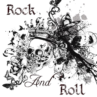 Rock and roll background design