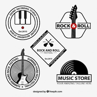 Rock and roll logos collection