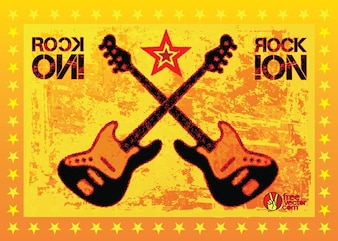 Rock star orange vector