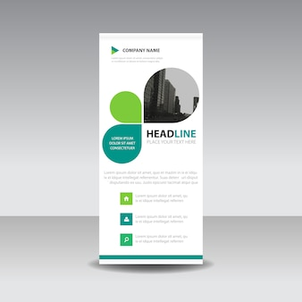 Roll up business template in leaf style