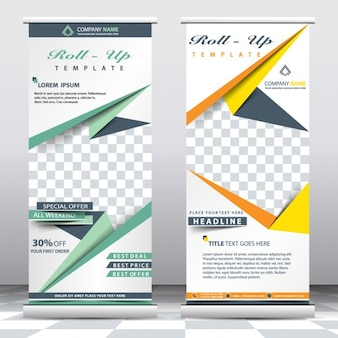 Roll up poster templates