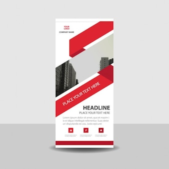 Roll up template with red shapes