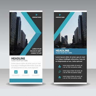 Roll up template with triangular shapes