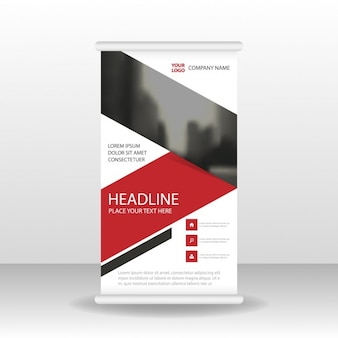 Roll up template with unfocused part