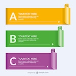 Rolled paper banner templates