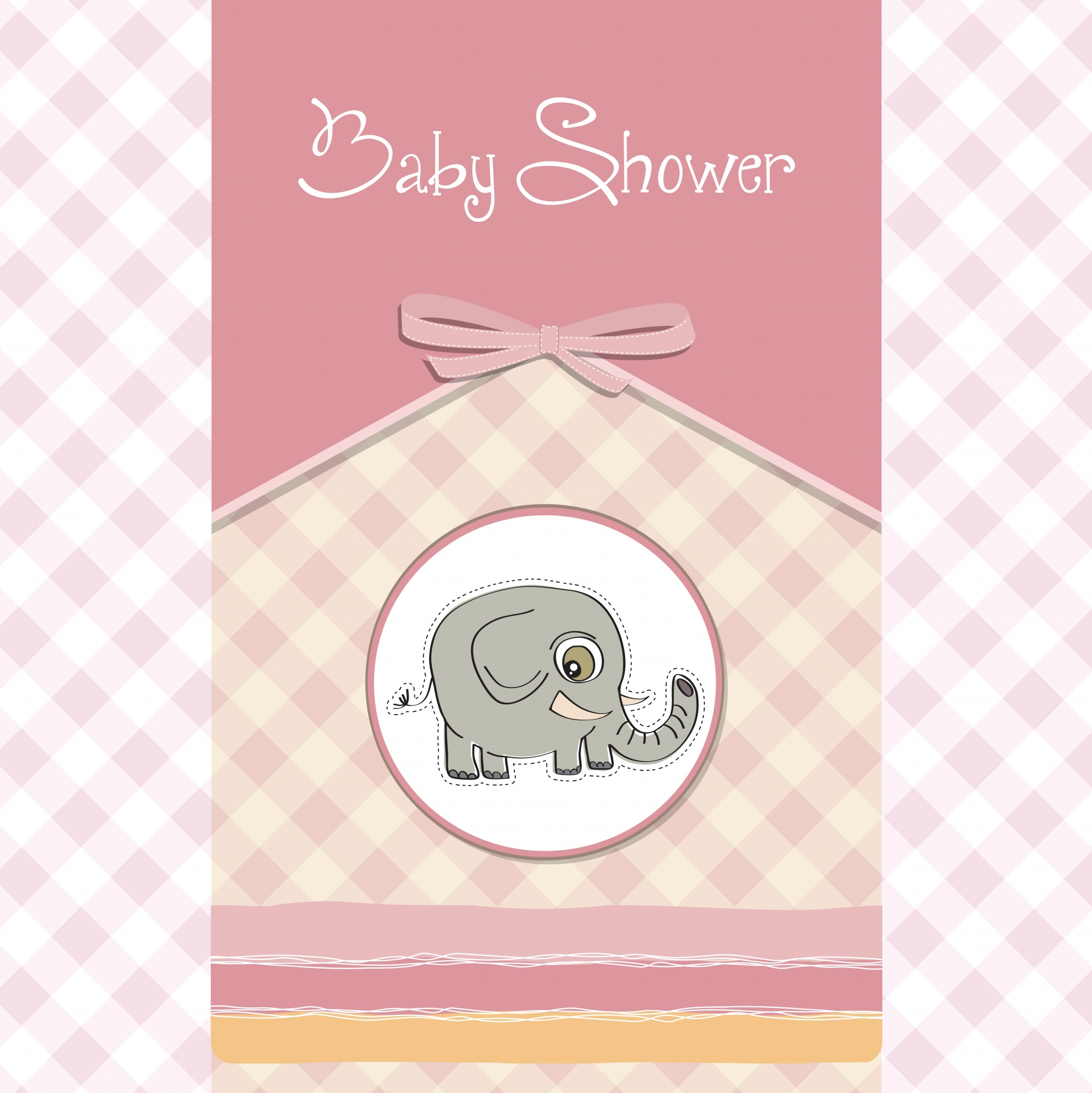 Romantic baby shower card