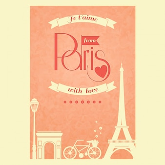 Romantic card about paris