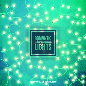 Romantic christmas lights background