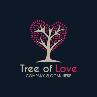 Romantic tree logo