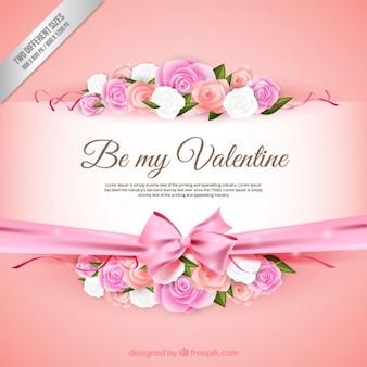ロマンチックなバレンタインの背景