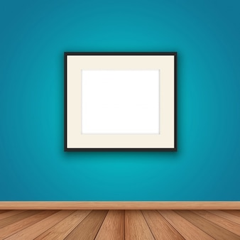 Room with a realistic frame