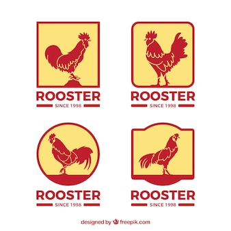 Rooster logos templates