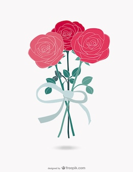 Roses bouquet vector