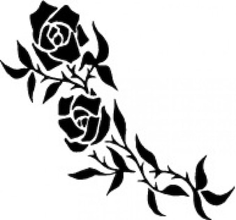 Roses branch tattoo