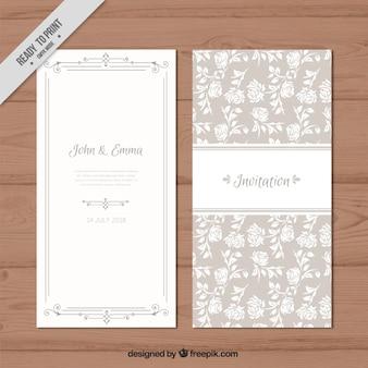 Roses wedding invitation