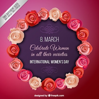 Roses wreath International Women Day