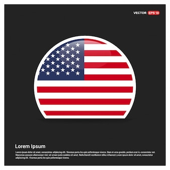Round American Flag Template