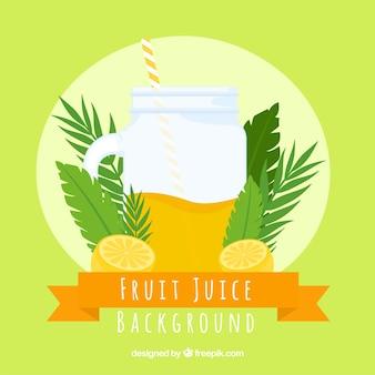 Round background with fruit juice