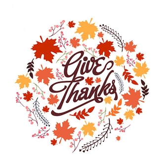 Round background with vegetation for thanksgiving